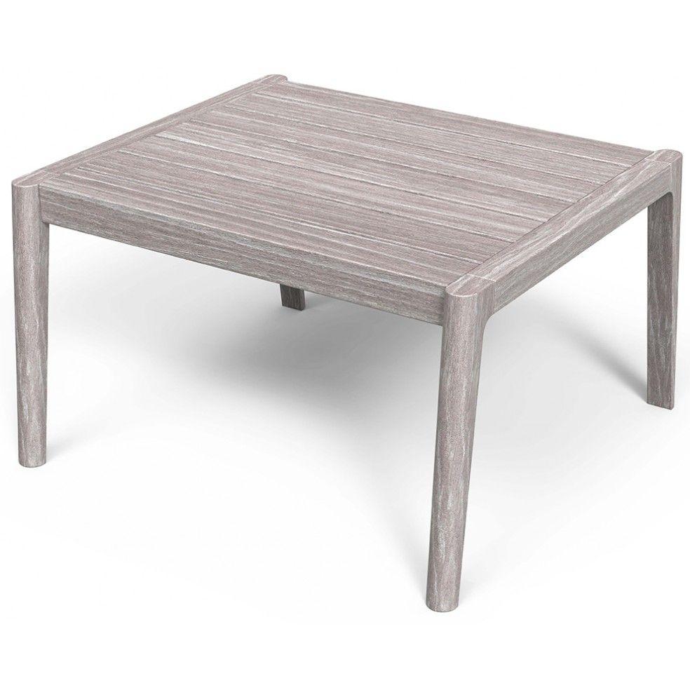 Table basse en teck FSC ton vintage grey, sans entretien
