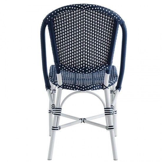 Chaise en alu rotin couleur blanche ou bleue, Sophie de Sika Design
