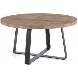 Table de jardin ronde en teck massif d 130 ou 160 cm, Margo