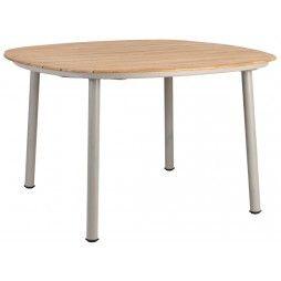 Table de jardin carrée 120 cm en alu et bois de roble, Cordial
