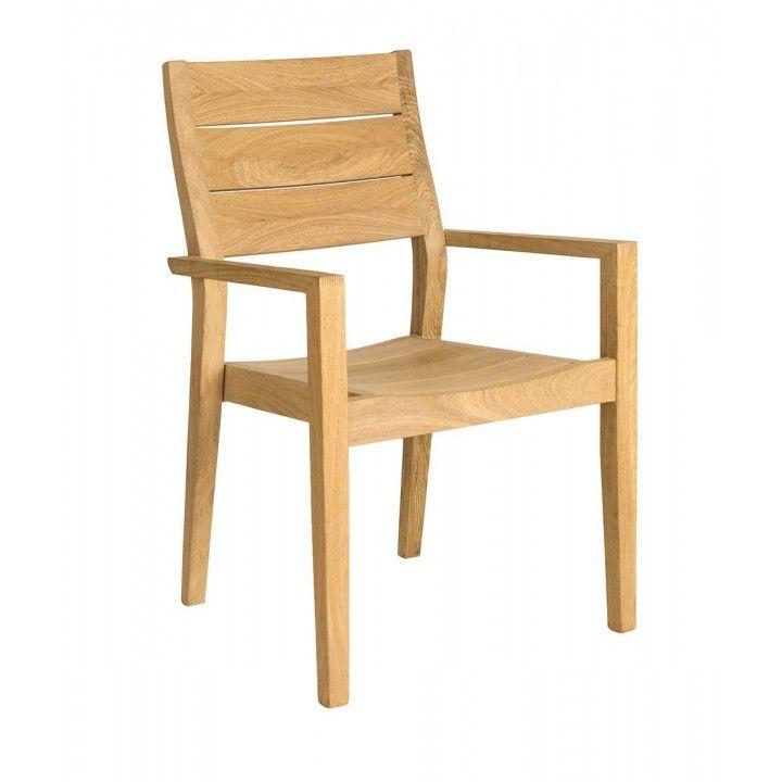 Fauteuil de table en bois de roble