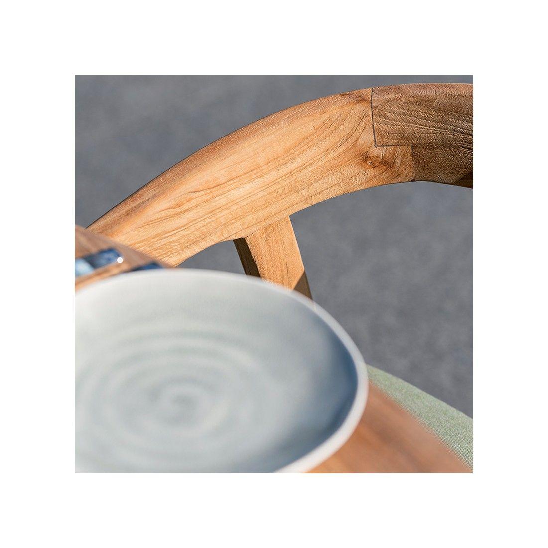 Fauteuil de table design en teck