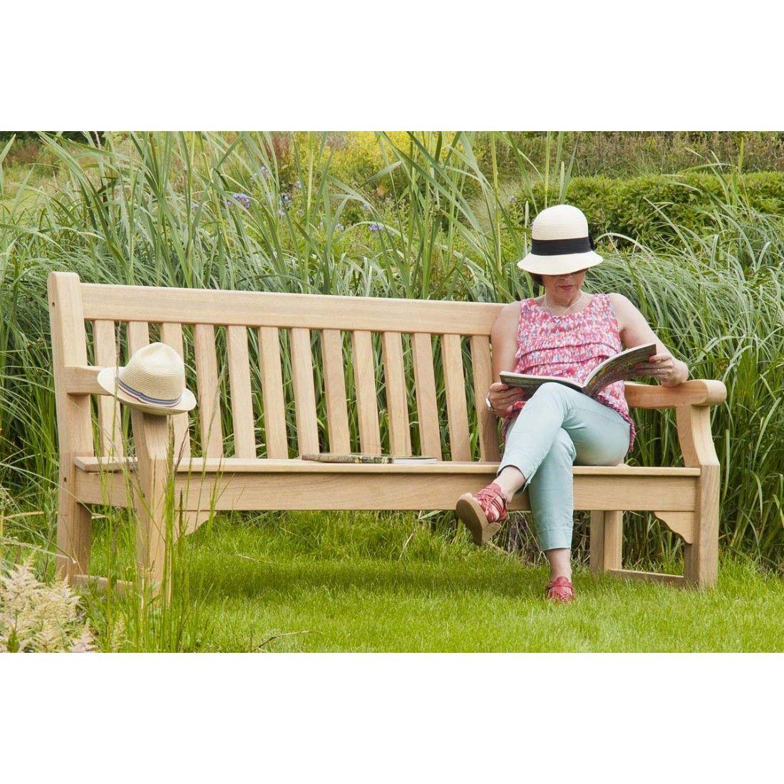 Banc de jardin en roble, 244 cm, Royal Park