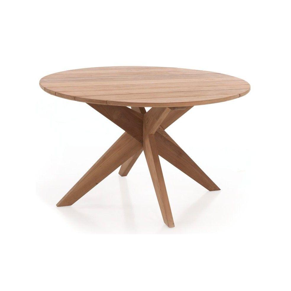 Table de jardin ronde en teck massif 135 cm, Java