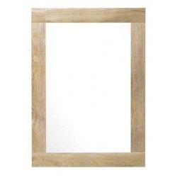 Miroir chêne massif à bords larges, de 40 à 200 cm, Line Art