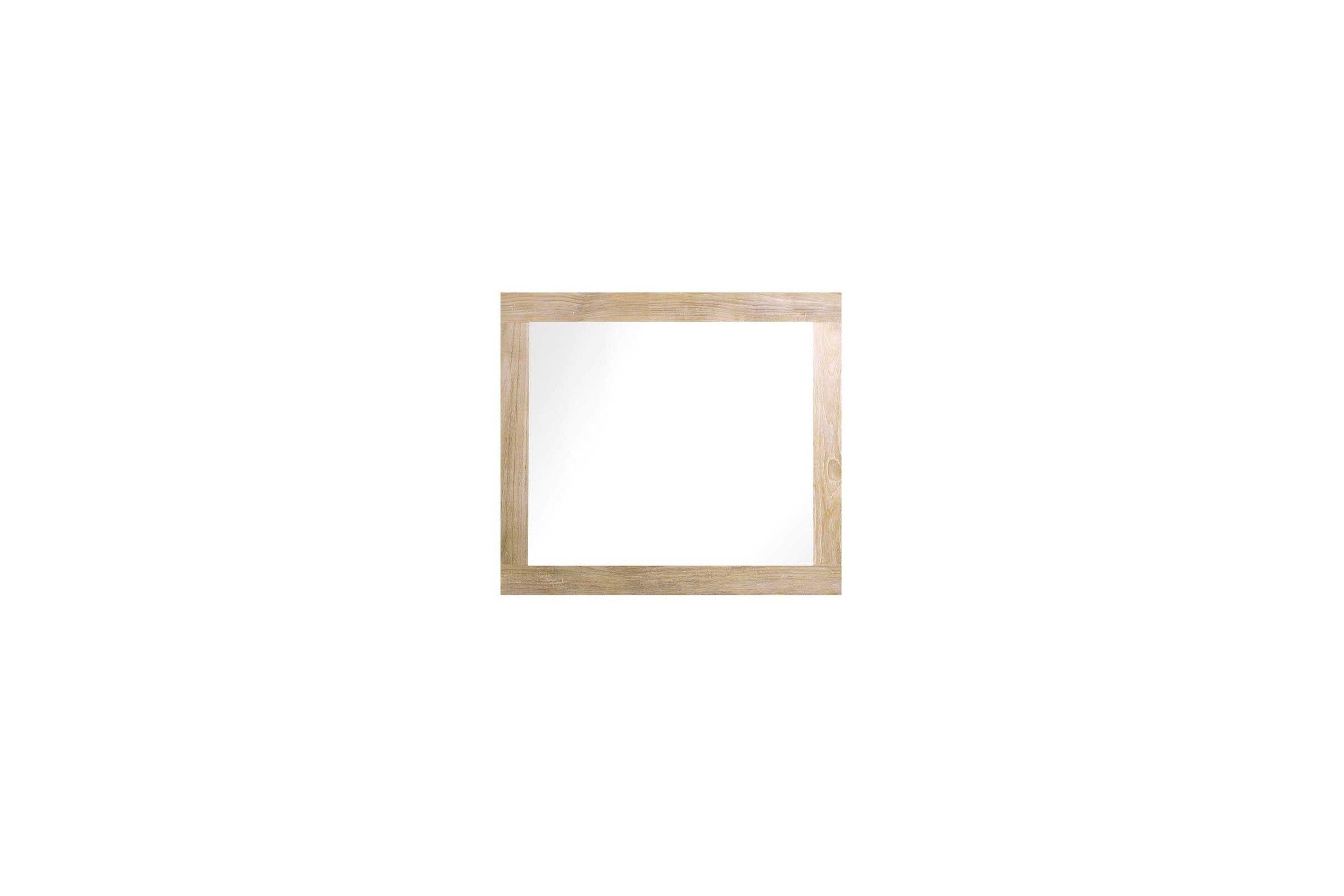 miroir ch ne massif bords larges de 40 200 cm line art la galerie du teck. Black Bedroom Furniture Sets. Home Design Ideas