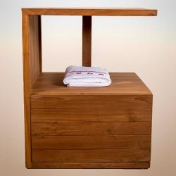 meuble de salle de bain en teck massif - la galerie du teck - Meuble Salle De Bains Teck
