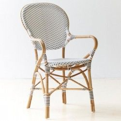 Chaise et fauteuil de jardin en rotin