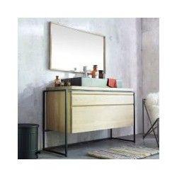 le meuble sous vasque bois en teck ou en chne massif - Meuble Sous Vasque A Poser