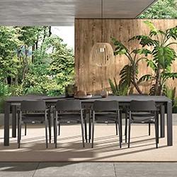 Chaise Et Table De Jardin En Verre Resine Et Aluminum