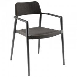 Chaise et fauteuil de jardin en aluminium